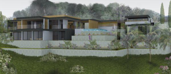 architecte, projet, volume, piscine, creation