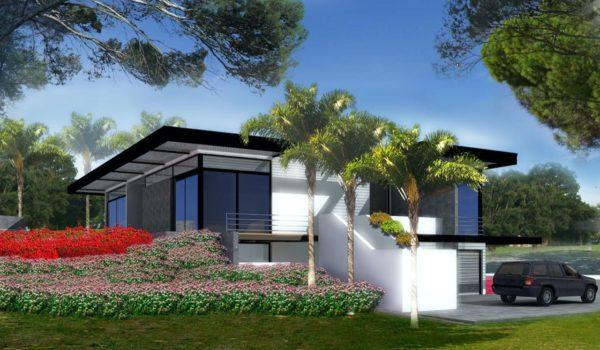 villa Frejus nice architecte plan maison original