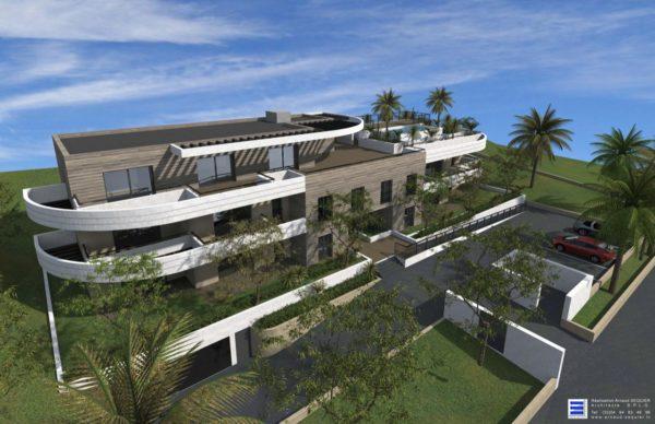 immeuble avec 8 logements plan d'architecte pour un immeuble à Frejus agay saint rapahal saint-aygulf appartement