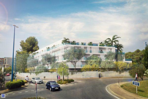 logements collectifs appartements antibes architecte proximité Bnp plan nice immeuble