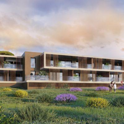 jardins d'évacuation, Frejus, architecte, cote d'azur, collectif, appartement