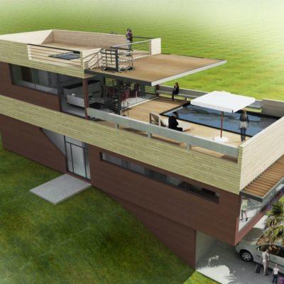villa Frejus nice architecte plan maison terrasse